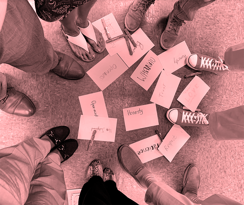 Image of Shoes with Word CArds